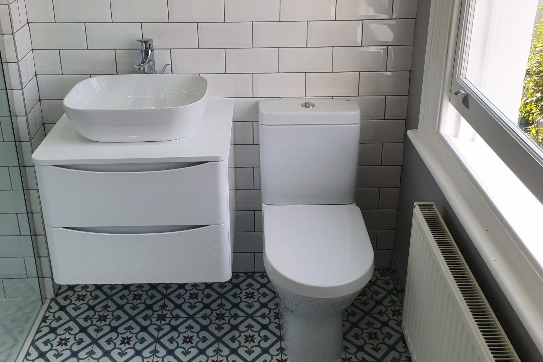 bathroom design and install from Polkadot Plumbers